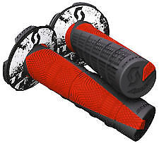 Scott MX Duece 2 Grips+Donuts Waffle Grip Black/Red Honda CRF 150/230/250/450