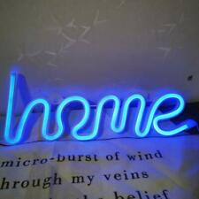 Home Neon Sign Word Letters LED Light Decorative Wall Decor Blue
