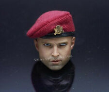 """1:6th Scale British Red Berets Hat Model For 12"""" Body Doll"""