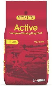 Vitalin Complete Dry Adult Active Working Dog Food Chicken 15 Kg Complete Food