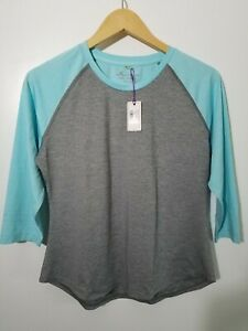 1 NWT PETER MILLAR WOMEN'S SHIRT, SIZE: SMALL, COLOR: GRAY/LIGHT BLUE (J47)
