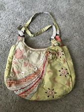 Accessorize Yellow And Beige Bag. Tote Bag. Reusable Bag. Buttons Cute Boho Chic