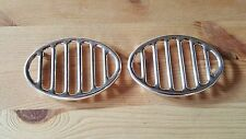 VW MAGGIOLINO 6V BEETLE COX KAEFER GRIGLIE CLACSON HORN GRILLS PAIR