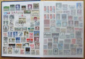 Österreich Briefmarken-Album , gestempelt