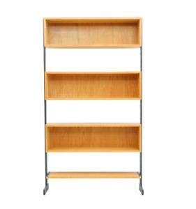 1 / 8 Free Standing Single Bookcase, Shelf Germany 1960s 60er Regal