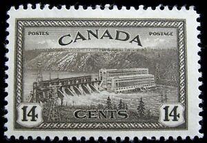 CANADA – Sc #270 – 14¢ – BLACK BROWN – MINT-HINGED – 1946