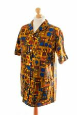 Vintage orig 60er Kittel Schürze Kleid MILOTY bunt Muster Hauskleid Baumwolle L