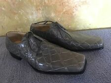 MAURI Genuine ALLIGATOR SHOES Size 10 Greyish Olive M COLLECTION Made in Italy