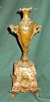 bronze/marble mantel ornament, signed Gélandin,  French art nouveau