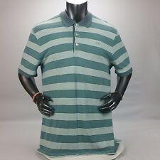 Herren XXXL 3XL Lacoste vintage washed Poloshirt grün mit grünen Streifen EUC! $89