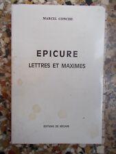 MARCEL CONCHE, Epicure, Lettres et Maximes (EO avec envoi)
