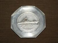 VINTAGE US NAVY SHIP 1902-1962 SIXTY YEARS DESTROYERS USS BAINBRIDGE  METAL TRAY