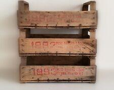 N.3 Cassette della frutta anni 90, in legno molto, resistenti.