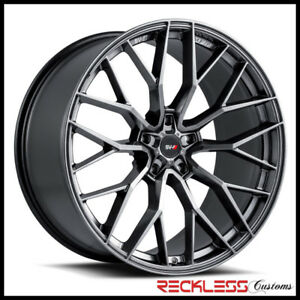 "SAVINI 20"" SVF-02 GLOSS GRAPHITE CONCAVE WHEEL RIMS FITS CHEVY CAMARO"