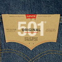 Levis 501 Jeans Original  New Mens Size 36 x 34 DARK BLUE WITH FADE Levi's NWT