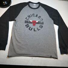 '47 Brand Chicago Bulls Nba Basketball Long Sleeve Tee T Shirt Sz Mens L