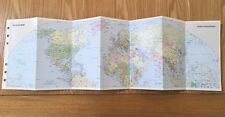FILOFAX/ORGANISER-RARE WORLD MAP 1 Sheet-Folds Out to 14 Sides PERSONAL SIZE