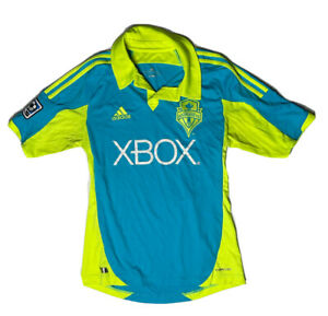 MLS Men's Adidas Seattle Sounders FC Soccer Authentic Jersey 2012 SMALL