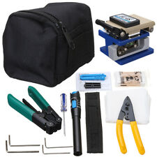 11 in 1 Fiber Optic FTTH Tool Kit with Visual Finder FC-6S Fiber Cleaver Tester