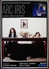 ARC IRIS 2014 Gig POSTER London Concert UK United Kingdom JOCIE ADAMS Low Anthem