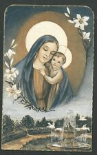 Holy card antique de la Virgin del Buen Consejo estampa santino image pieuse