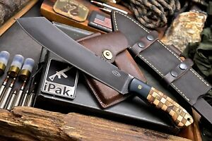 CFK IPAK Handmade 1095 Custom Small Parang Machete Hunting Camping Hunter Knife