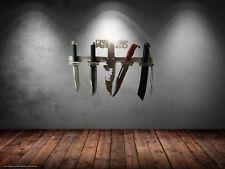 Rambo Messer Wandhalterung für Messer I - II - III - IV Handpoliert