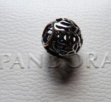 Pandora Solid Silver Openwork Artistic Leaf Charm Bead 791190 - GENUINE - NEW