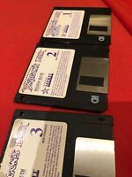 """1989 Dragon's Lair Computer Game - 3.5"""" Disks - Diskettes. IBM PC. Bluth"""