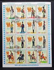 Guinea Ecuatorial Block Napoleon Uniformes Militares Briefmarken Uniform L-2441+