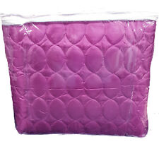 Quilted Ruby Decorated Double Duvet Bedding Set Aubergine