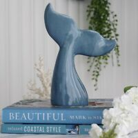 Whale Tail Ceramic Byron Blue Decor 22cm (H) Hamptons Coastal Home Decor