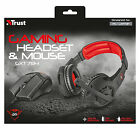 TRUST 21472 GXT784 GXT 784 GAMING HEADSET HEADPHONES WITH MIC + 4800DPI MOUSE