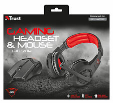 TRUST 21472 gxt784 GXT 784 GAMING HEADSET CUFFIE CON MICROFONO + MOUSE 4800dpi