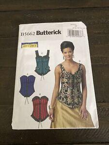 Butterick B5662 Pattern Misses' Corsets Size 6-14 New/Uncut
