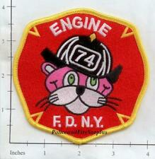 New York City Fire Dept Engine 74 Patch Pink Panther