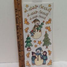 Christmas Primitive Snowman Trees Stars SCRAPBOOKING Stickers by Bo-Bunny