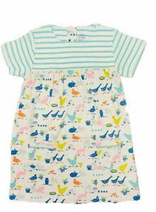 Mini Boden Baby Farm Tour  Dress, Blue