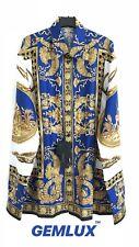 VERSACE blue baroque print silk shirt Size 16 - 41 RRP £960