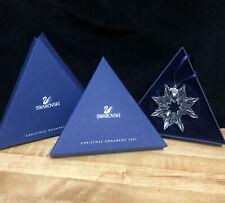 2003 Large Swarovski Snowflake Ornament Broken W/Orig. Package