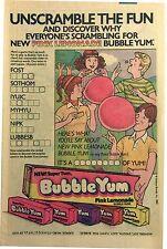 1983 - Bubble Yum, Saturday Cartoons, MENUDO Promo Ad (Double-Sided)