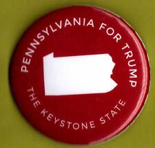 "2016 Donald Trump 2.25"" / ""Pennsylvania - Red"" Official Campaign Button"