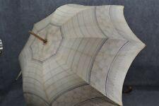 parasol umbrella walking cotton shell print stripe Edwardian original 1890 vg
