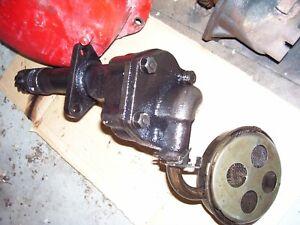 VINTAGE  MCCORMICK FARMALL  H  TRACTOR - ENGINE OIL PUMP & SCREEN- 1951