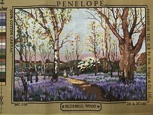 Penelope Bluebell Wood Vintage Tapestry Large Canvas Only New 35 x 50