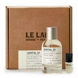 LeLabo - Santal33 eau de parfum 5ml 0.17oz 100ml 3.4oz travel size open box