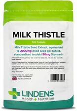 Milk Thistle Seed Extract 2000mg 120 Pack Tablets Liver Detox Health Lindens UK