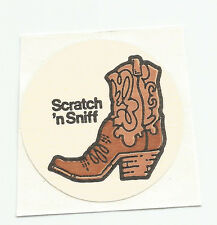 Vintage: 3M - Scratch & Sniff Sticker -  LEATHER BOOT (HTF)