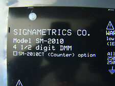 Signametrics, Sm - 2010, 4 1/2 digit Dmm with software driver (#107).