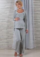Umstandsschlafanzug Stillschlafanzug gw - 3 Teile -    36 38 40    NEU